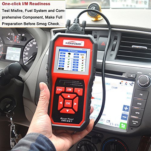 KONNWEI OBD2 Scanner, OBD Code Reader Code Scanner OBDII & EOBD Car Engine Fault CAN Diagnostic Scan Tool with I/M Readiness(Updated 2018) by KONNWEI (Image #5)
