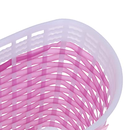 Bicycle Front Basket Shopping Holder with Kids Bike Grips Sparkle Retro Tassels Handlebar Streamers Purple