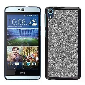 For HTC Desire D826 , S-type® Silver Sparkling Xmas Christmas - Arte & diseño plástico duro Fundas Cover Cubre Hard Case Cover