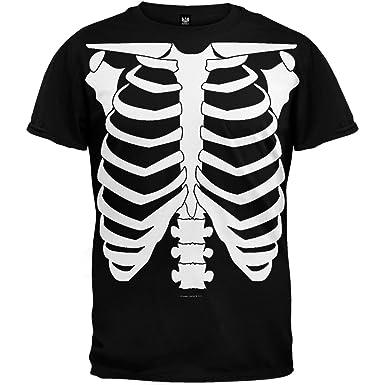 Amazon.com: Halloween Skeleton Glow In The Dark Costume T-Shirt ...
