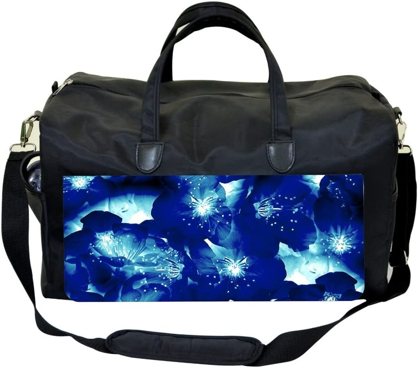 Jacks Outlet Neon Blue Flowers Sports Bag