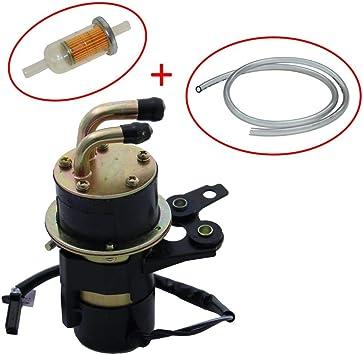 Kraftstoffpumpe Benzinpumpe Set Inkl Filter Schlauch Für Yamaha Fazer Fzs 1000 Vmax Yzf R6 R1 1000 12v Eingang Und Ausgang 8 Mm Abgewinkelt Auto