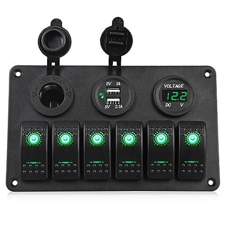 Amazon.com: WATERWICH Panel de interruptor de encendido ...