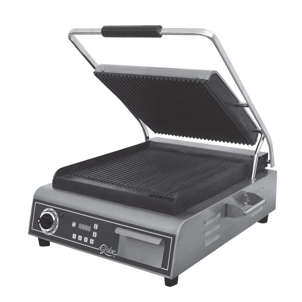 Table Top king GPG14D Deluxe Sandwich Grill with Grooved Plates - 1800W