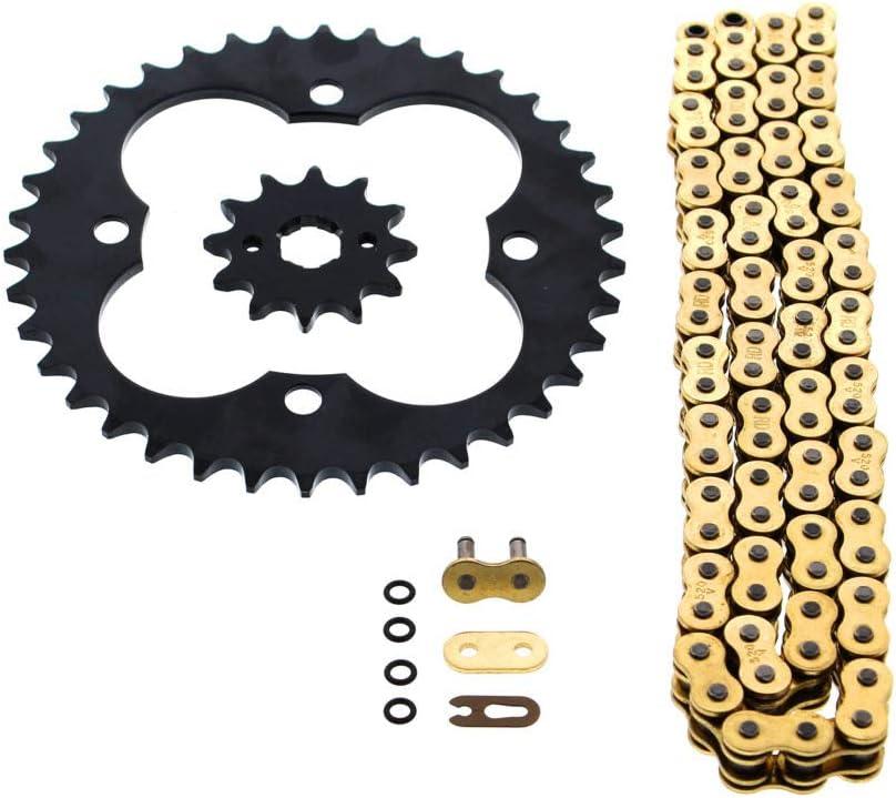 Fits Honda TRX300EX 300EX 300EX 520-86 Gold O Ring Chain /& Sprocket Black 12//39