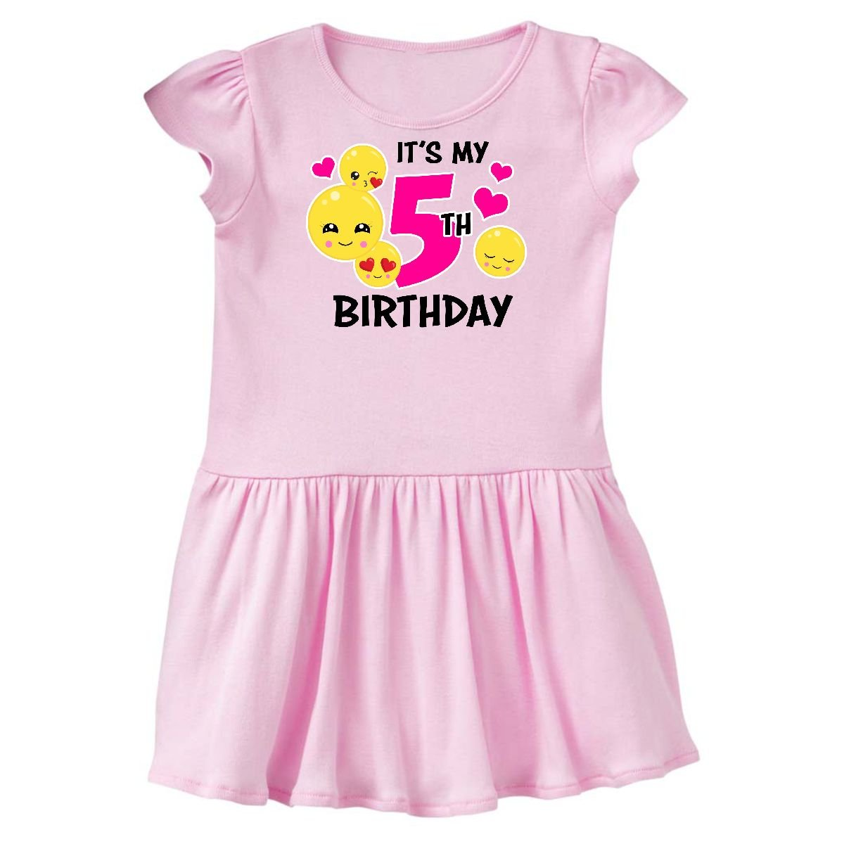 de99752f92b ... inktastic - Its My 5th Birthday Emojis Toddler Dress 14-196261-198 ...
