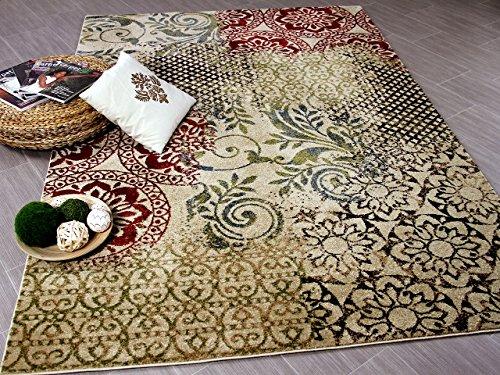 Designer Teppich Suite Vintage Beige in 5 Größen