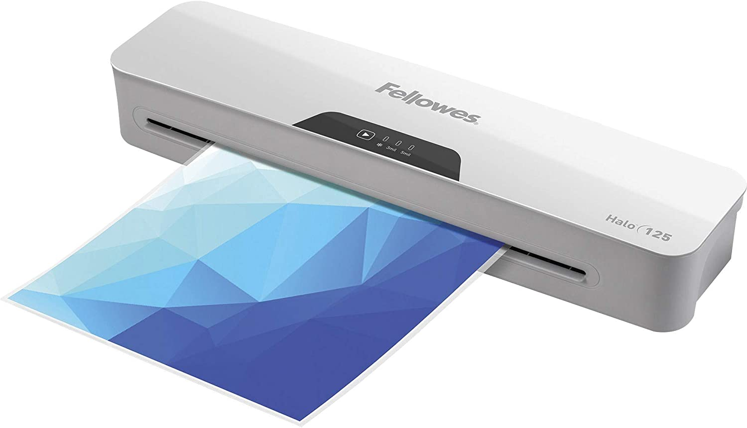 """Fellowes Halo 125 Laminator with Pouch Starter Kit,""""4.3"""""""" x 17.1"""""""" x 2.9"""""""""""""""