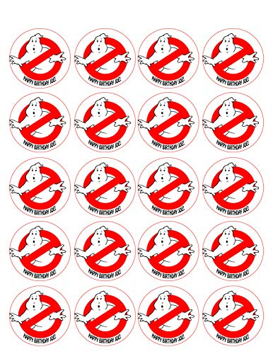 Ghostbusters (Nr5) - Edible Cupcake Toppers - 1.8