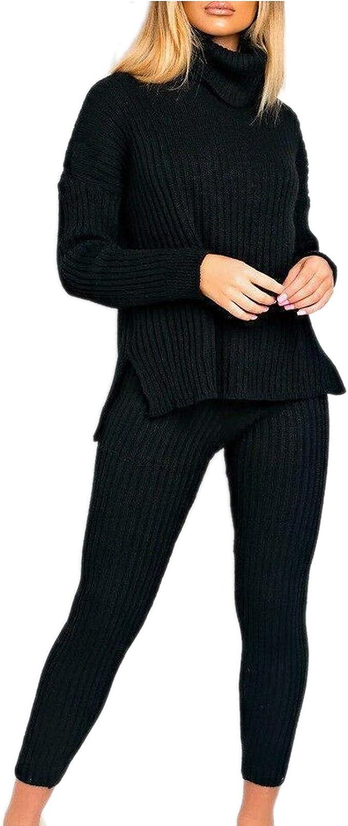 Femmes Col Roulé à Manches Longues Velours Combinaison Taille UK 8-14