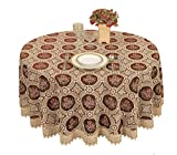 Small Vintage Burgundy Lace Tablecloth Embroidered Round Table Linen (round 36 by 36 inch)