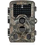 Distianert Trail Camera 16MP 1080P Wildlife Game Camera Low Glow Black Infrared Scouting Camera with 0.6S Trigger Time 80 FT Detection Range 165°Range & 47 Pcs IR LEDs for Wildlife Monitoring