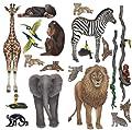 Walls of the Wild Rainforest Jungle and Safari Sticker Murals Collection Economy Size
