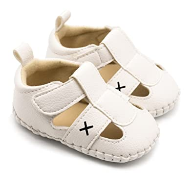 Amazon.com: ibbshoes color sólido Cruz Estilo Bebé Sandalias ...