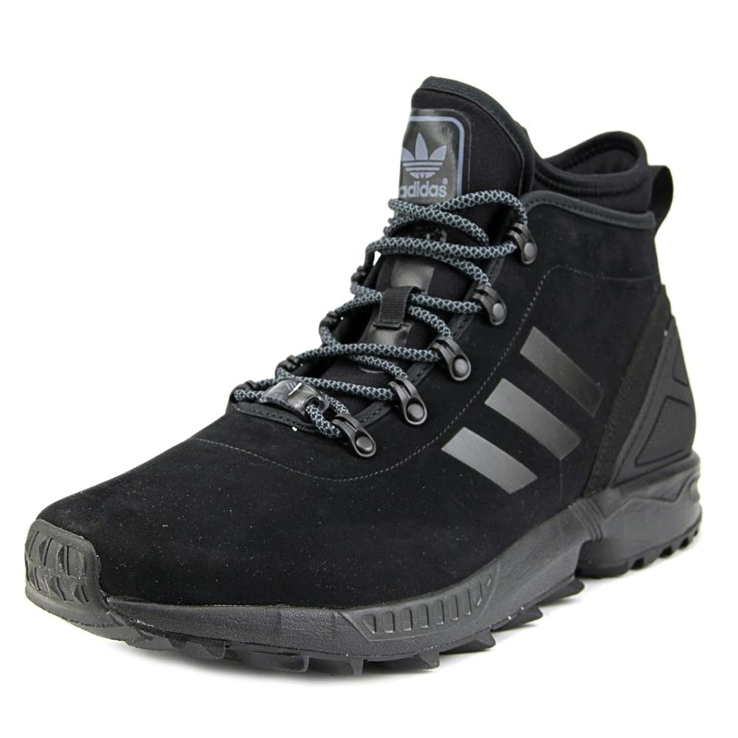 new style 422bf 972f4 ... Adidas ZX FLUX WINTER Men Round Toe Synthetic Black Sneakers ...