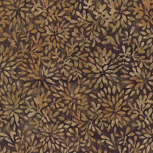 Wilmington Batiks Brown Packed Petals