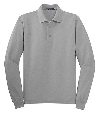 662b69ed6 Port Authority K500LS Long Sleeve Silk Touch Polo Shirt - Cool Grey -  XXX-Large