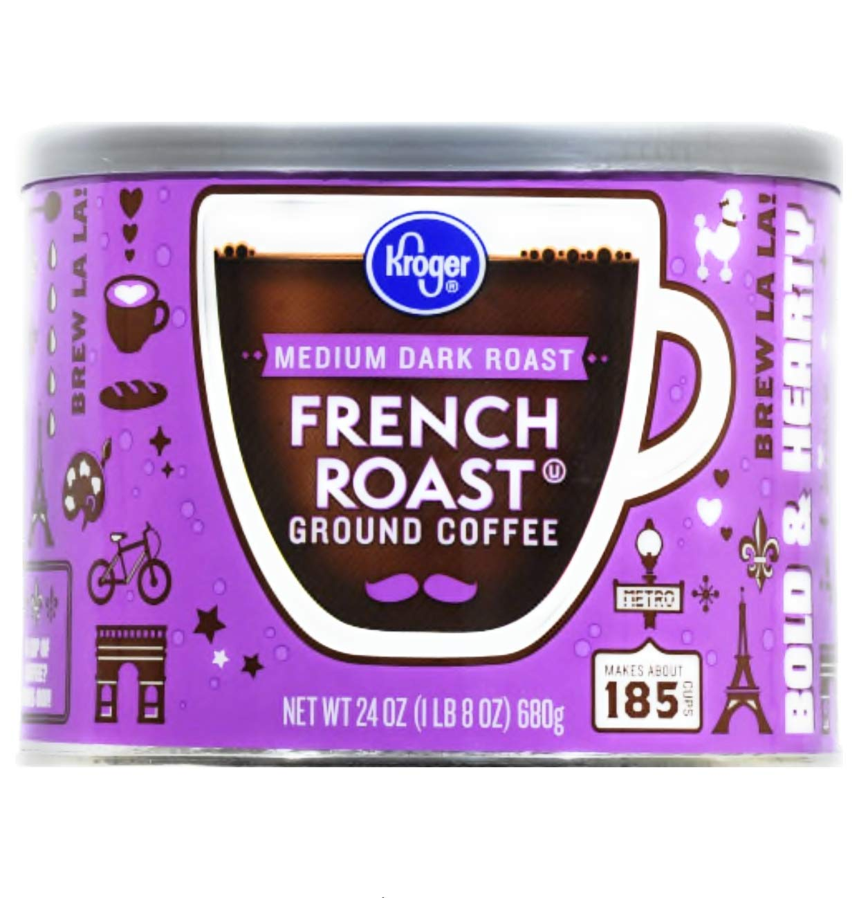 Kroger French Roast Medium Dark Roast Ground Coffe 24 oz