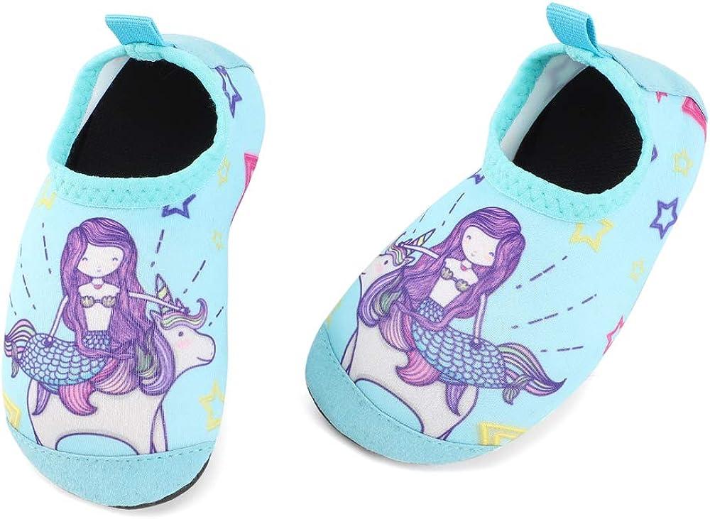 TIZAX Zapatos Verano de Agua para bebés Zapatos Escarpines Antideslizantes para niños Calcetines Descalzo de Secado rápido para Playa Piscina natación