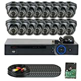GW Security 16 Channel HD 2.0MP 1080P HD-CVI Outdoor/ Indoor Security Camera System with Pre-Installed 4TB Hard Drive – High Resolution Long Distance Transmit Range (Dome cameras) For Sale
