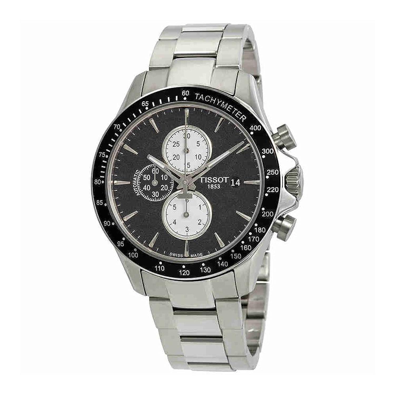 ティソv8ブラックダイヤルメンズクロノグラフ腕時計t106.427.11.051.00 B07792Q676