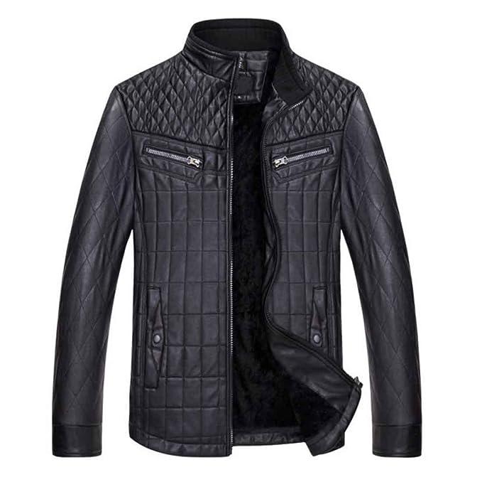 chaqueta cuero hombre moto chaqueta hombre invierno, black, xxxl: Amazon.es: Ropa y accesorios