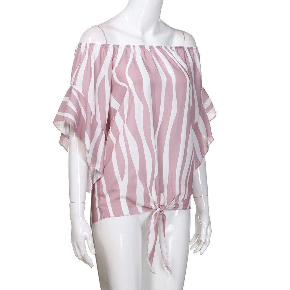 Camisas de Rayas para Mujer, Sudaderas para Hombros, Hombros ...