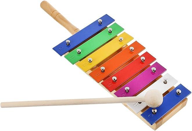 EXCEART Instrumento de Xilófono de Madera con Mazos de ...