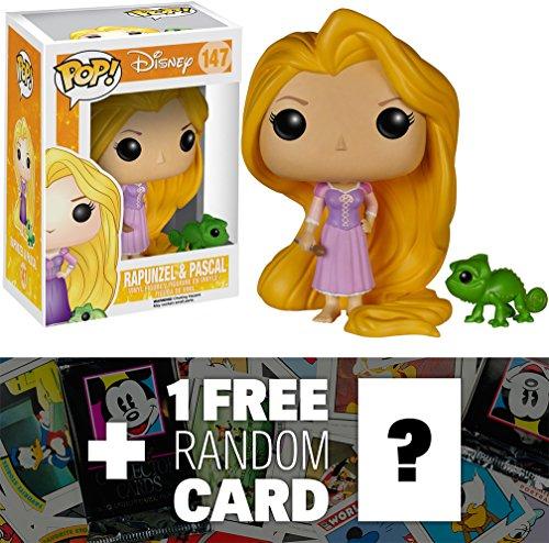 Price comparison product image Rapunzel & Pascal: Funko POP! x Disney Tangled Vinyl Figure + 1 FREE Classic Disney Trading Card Bundle [51358]