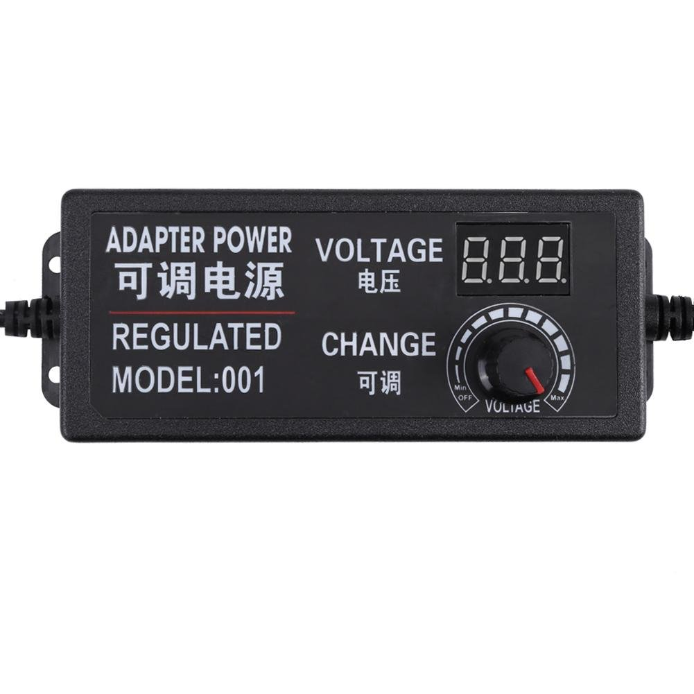 25a 72w Dc 9v 24v Adjustable Power Adapter Voltage Display Speed Regulated Supply Schematic Controller Us Plug