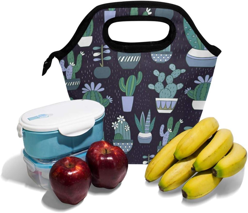 per bambini e bambine leggera Lupinz Borsa termica per il pranzo con cactus