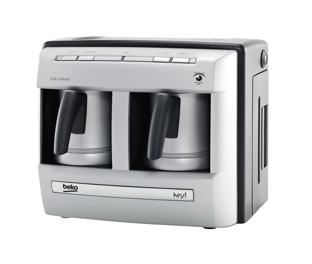 BEKO BKK 2113P DUAL ZONE 2 POTS AUTOMATIC ARABIC / GREECE / TURKISH COFFEE ESPRESSO MAKER MACHINE 220V 1470W