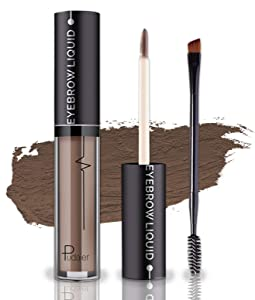 Waterproof Eyebrow Gel, Long Lasting Smudge-Proof Liquid Brow Makeup Tint, Brow Shaper with Mascara Primer Brush Wand Kit Mother's Day Gift(Color-Brunette)
