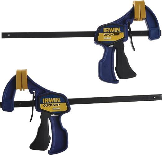 """6/"""" Lot de 2 Irwin Quick-Grip 150 mm mini pince en bois de Serrage Bricolage Nouveau UK"""