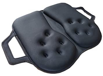Tektrum Thick Foldable Orthopedic Cool Gel Seat Cushion With Handle For Home Office Chairs Car
