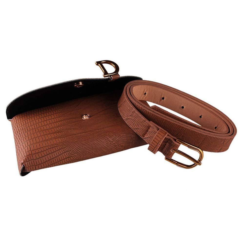Color : Brown FeliciaJuan Women Waist Wallet Women Waist Bag Belt Bag D Letter Waterproof PU Fanny Pack Removable Belt with Waist Pouch Mini Purse Wallet Travel Outdoor Sport Bag Cell Phone Bag