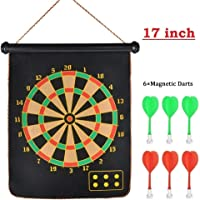 Mix Cart Magnetic Dart Board for Kids, Indoor Outdoor Board Games Set Free 6 clourful Magnetic Pointed drts