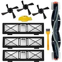 Accessori per aspirapolvere robot Neato Botvac 75e 75 80 85 Kit di sostituzione 1 spazzola principale, 3 filtri Hepa, 3 spazzole laterali, 1 attrezzo di pulizia