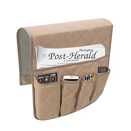 Bolsa multiusos con 6 bolsillos para almacenamiento en el sofá, para guardar mando a distancia, soporte organizador e impermeable