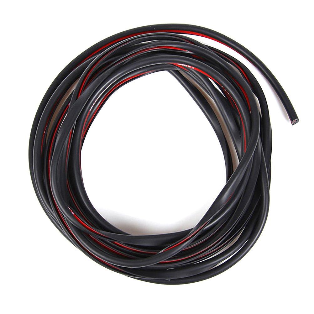 WINOMO Baguettes Protection Portiere Voiture Noir 10M S35L375YN107
