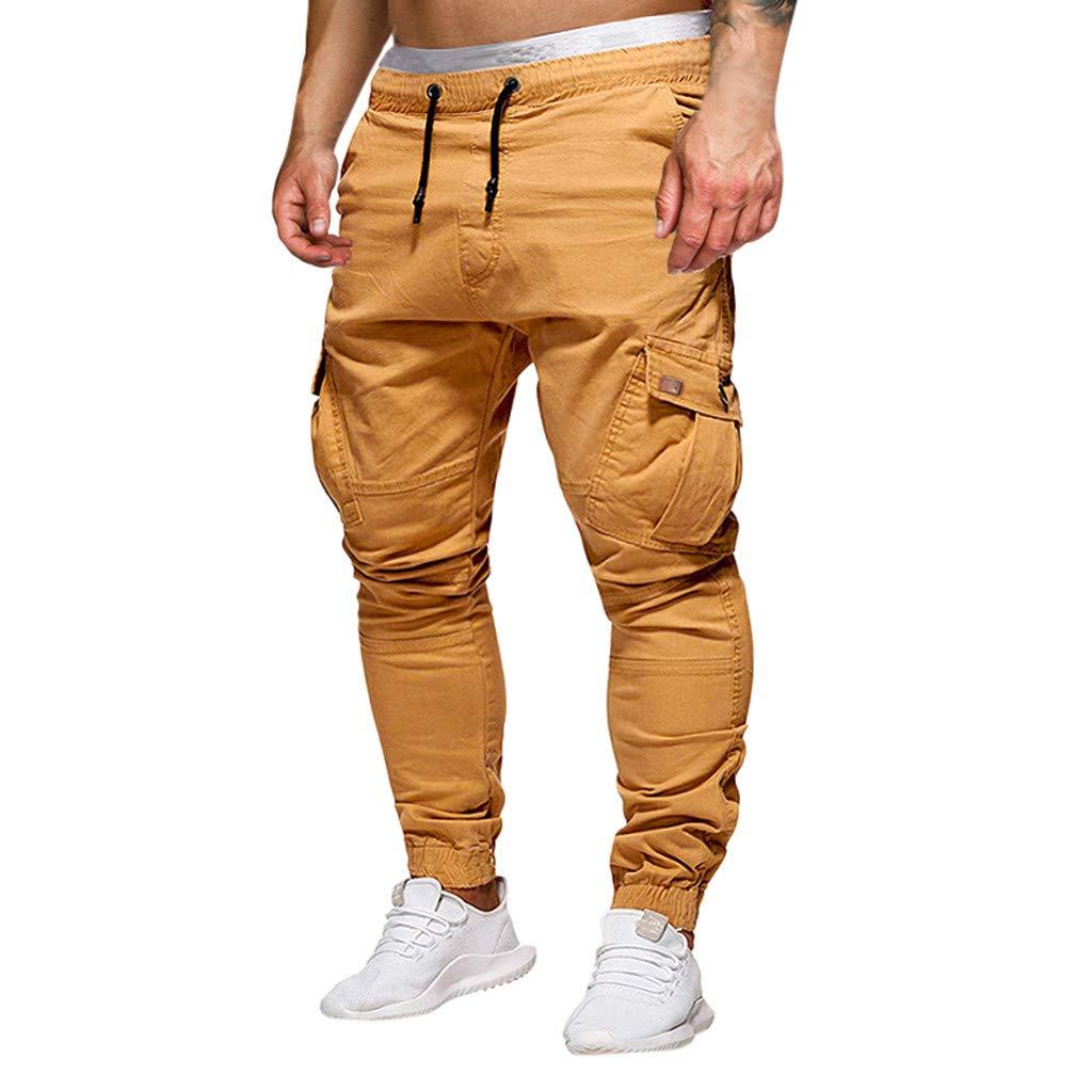 LILICAT❤Mode Homme Camouflage Patchwork Sarouel Casual Streetwear Sweatpants Hip Hop Pantalons Jogger Hommes Pantalon Taille Drawstring /éLastique Pantalon,Pantalon Cargo Lacets Pantalons D/éContract/éS