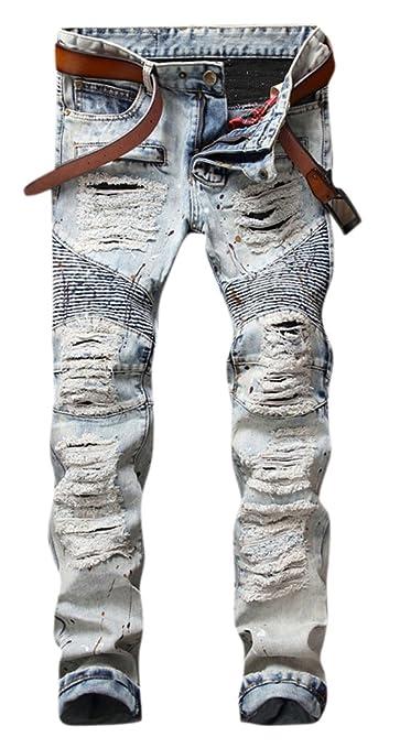 Amazon.com: OKilr Pjik - Pantalones vaqueros para ...