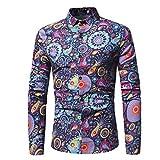 Longay Men%2592s Printed Shirt Plus Size