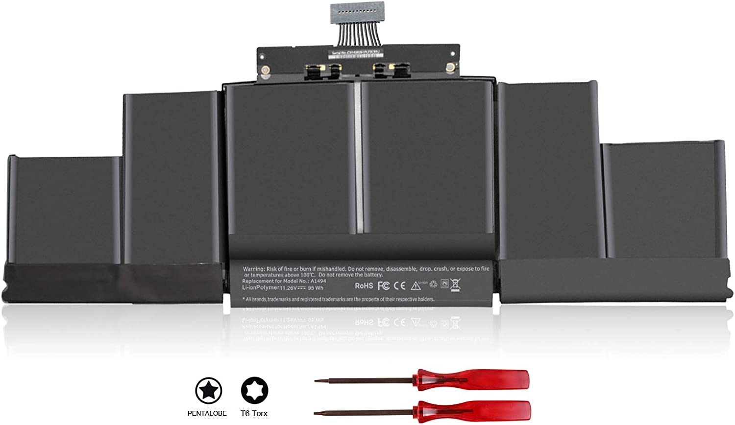 A1494 A1618 Laptop Battery Compatible with MacBook Pro 15 inch Retina A1398 Late 2013 Mid 2014 2015,ME293 ME294 MGXA2 MGXC2 MJLQ2 MJLT2 MJLU2 ME293LL/A ME294LL/A MGXA2LL/A MGXC2LL/A 020-00079
