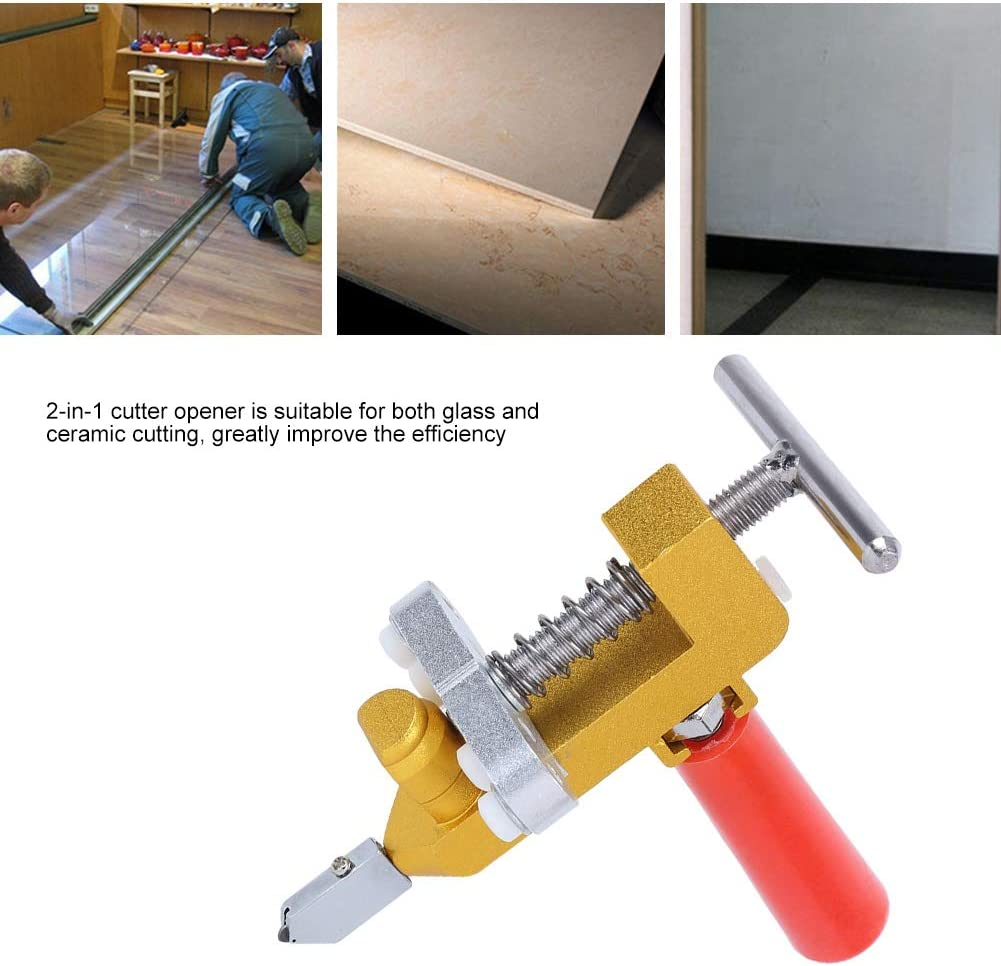 Cortador de azulejos manual ligero multifunci/ón Cuchillas de vidrio manuales para la industria del corte de vidrio Cortador de azulejos de cer/ámica