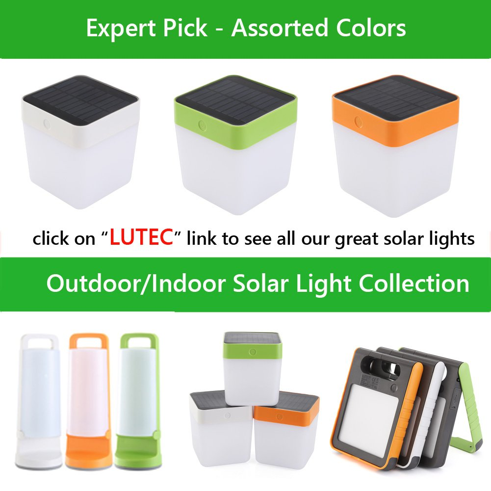 LUTEC Solar Rechargeable LED Light Outdoor/Indoor Emergency Lighting Waterproof Lamp Touch Sensitive Control Garden Bedroom Lamp Camping Outage Led Table Cube Night Light Home Decorative LED Light