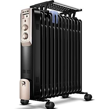 Heater LVZAIXI Calentador Hogar Ahorro de energía Ahorro de energía 13 Piezas Calefacción eléctrica Calentador Ventilador Estufa Estufa Aceite eléctrico: ...