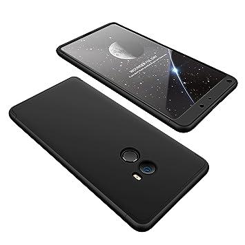 CLTPY Funda para Xiaomi Mi Mix2, [High Pro Shield] Carcasa [3 en 1] Desmontable Ultra-Delgado Negro Cubierta Trasera de Plástico Duro y Marco Lujo ...