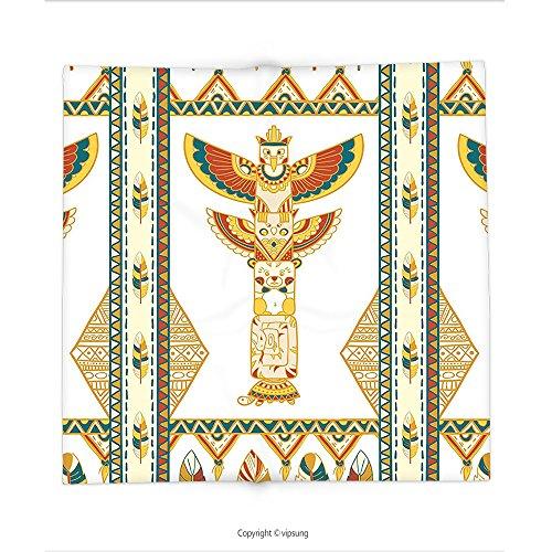 Custom printed Throw Blanket with Native American Decor Tribal Indian Ornamental Totem Icon Sacred Spirit Clan Wigwam Folk Print Multi Super soft and Cozy Fleece Blanket (Spirit Halloween Washington Dc)