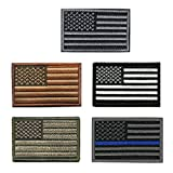 #3: 5 pieces Tactical USA Flag Patch - American Flag US United States of America Military Patches (5Packs)
